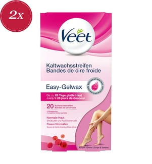 2er-Set Veet Hair Minimizer™ Kaltwachsstreifen Normale Haut Körper - 2 x 20 Streifen