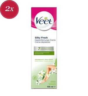 2er Pack Haarentfernungscreme Veet Silk & Fresh™ Special Dry Skin