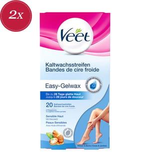 2er-Set Veet Hair Minimizer™ Kaltwachsstreifen Sensitive Haut Körper - 2 x 20 Streifen