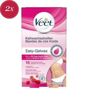2er-Set Veet Kaltwachsstreifen Bikini & Achseln Normale Haut Veet - 2 x 16 Streifen