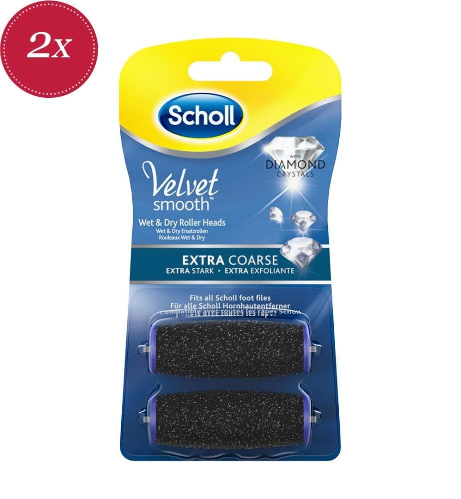 2er-Set Scholl Velvet Smooth Ersatzrollen Wet&Dry mit Diamantpartikel - 2 x 2 Rollen