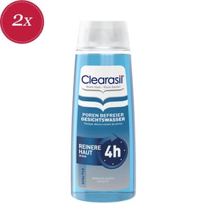 2er Pack Clearasil Poren Befreier Gesichtswasser - 2 x 200 ml