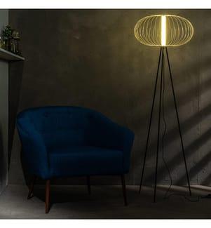 LED-Stehlampe Mizar - Schwarz und Gold