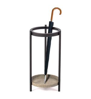 Regenschirmständer aus Metall Isoka - Schwarz und Grau