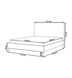 Doppelbett Bayonne - 160 x 200 cm