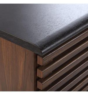 Sideboard dunkler Holzfarbton PERTH