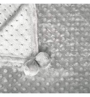 Decke hellgrau 150 x 200 cm SAMUR - Grau
