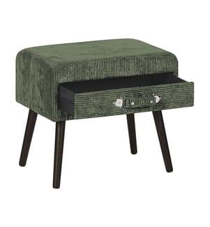 Nachttisch grün Cord EUROSTAR - Grün