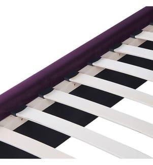 Polsterbett Samtstoff violett mit Stauraum 140 x 200 cm NOYERS