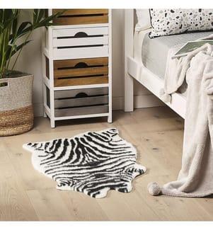 Ökologisches Zebrafell 90 cm NAMBUNG - Schwarz