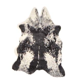Ökologisches Kuhfell weiss / schwarz 90 cm NAMBUNG - Schwarz