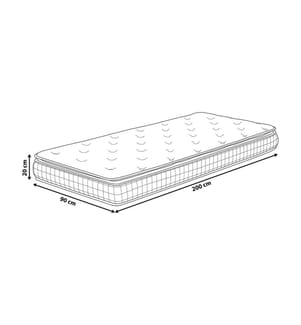Matratze Memory Foam hard 90 x 200 cm CHARM - Weiss