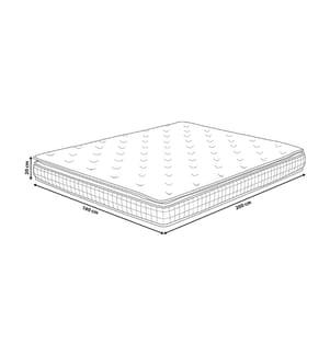 Matratze Memory Foam hard 160 x 200 cm CHARM