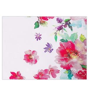 Bettwäsche Set weiss / rosa Baumwollsatin 135 x 200 cm LARYNHILL