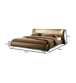 Leder-Doppelbett Paris - 180 x 200 cm