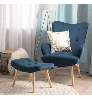 Loungesessel & Hocker Vejle - Blau