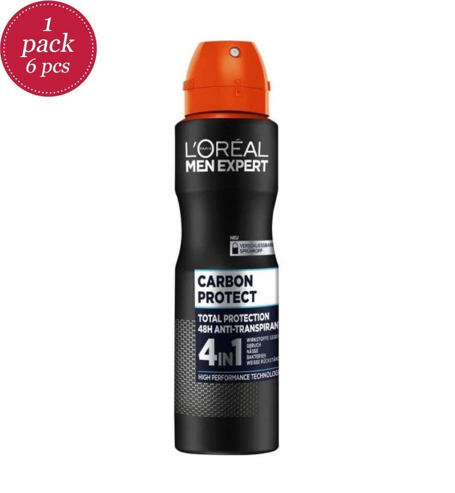 L'OREAL - 6er Set - L'Oreal Paris Deodorant 150 ml Men Expert - Carbon Protect
