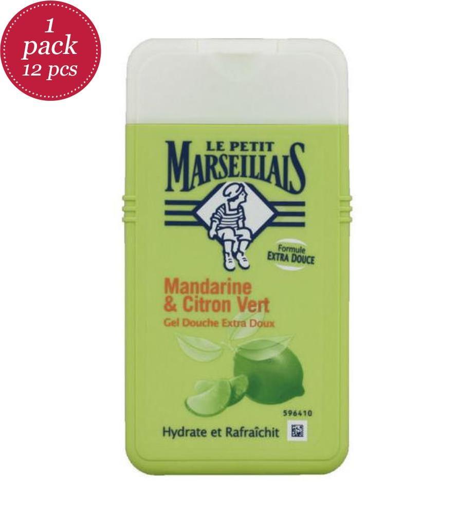 LE PETIT MARSEILLAIS - 12er-Pack Duschgele Mandarine Citron Vert 250 ml