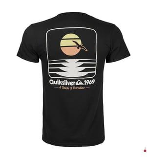 QUIKSILVER - T-Shirt Sunset Now - Schwarz