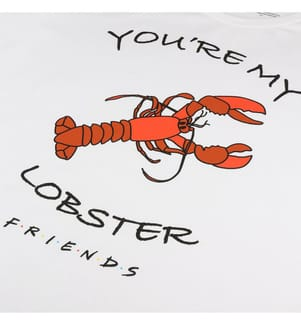 Nachthemd You're My Lobster - Weiss