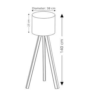 Stehlampe AYD 1667 - Dunkelbeige