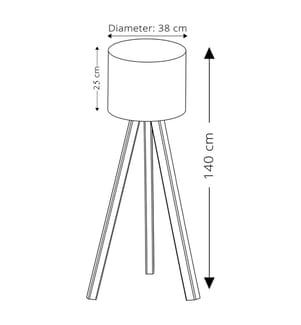 Stehlampe AYD 1675 - Beige und Hellbraun