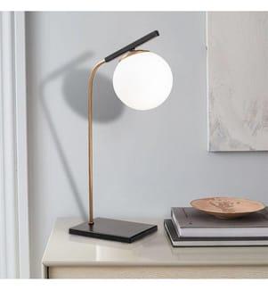 Tischlampe Yildiz - Schwarz und Gold