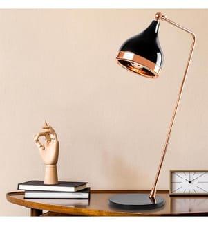Tischlampe - Schwarz, Kupfer