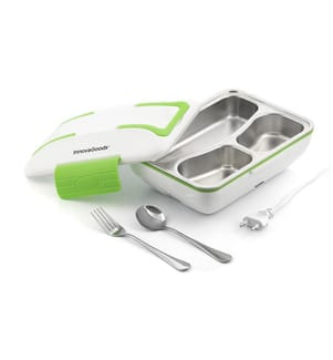 Elektrische Lunchbox - Weiss und Grün