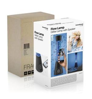 Lavalampe mit Bluetooth-Lautsprecher 30 - Blau und Silber