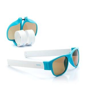 Klappsonnenbrille PA2 - Weiss und Blau