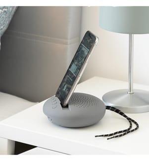 Funklautsprecher mit Halterung für Geräte Sonodock