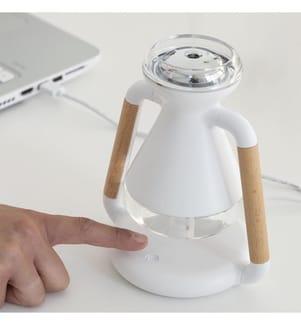 Luftbefeuchter, Aroma Diffuser und kabelloses Ladegerät - Weiss