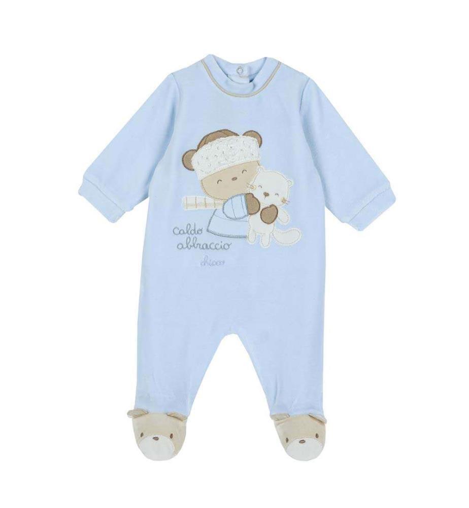 CHICCO - Pyjama mit offenem Rücken und Jolo-Bär-Motiv