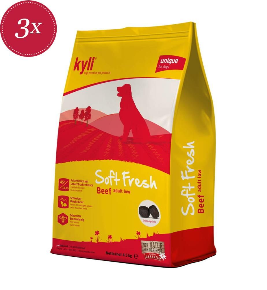 kyli SoftFresh Beef Adult Low - 3x 4,5 kg