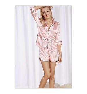 2-Teiliger Pyjama - Hellrosa