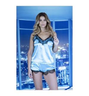 Pyjama-Short - Hellblau