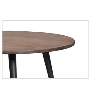 Tisch 75 x 120 x 120 cm - Braun und Schwarz