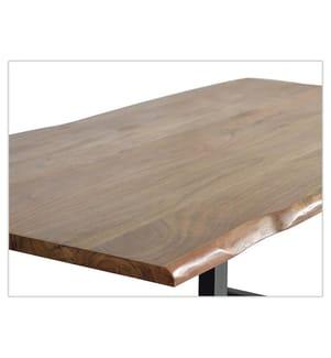 Tisch 78 x 200 x 100 cm - Hellbraun und Schwarz