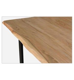 Tisch 76 x 200 x 100 cm - Braun und Schwarz