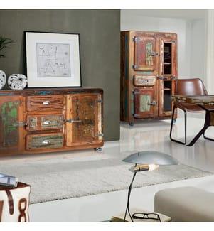 Sideboard 90 x 150 x 40 cm - Braun