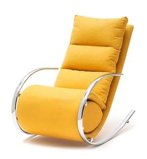 Relax-Sessel & Hocker - Silber und Hellorange
