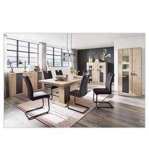 4 Stühle (Freischwinger) 44 x 101 x 60 cm - anthrazit