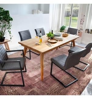 4er-Set Stühle - Grau