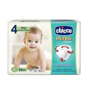 CHICCO - 1 Packung mit 19 Windeln Ultra Fit & fun - Grösse: 4