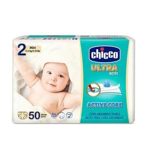 CHICCO - 1 Packung mit 50 Windeln Ultra Soft - Grösse: 2