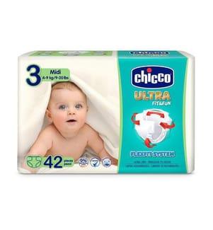 CHICCO - 1 Packung mit 42 Windeln Ultra Fit & fun - Grösse: 3
