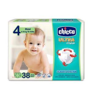 CHICCO - 1 Packung mit 38 Windeln Ultra Fit & fun - Grösse: 4