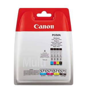 CANON - Tintenpatrone-Multipack CLI-571PA, CMYK (7 ml)