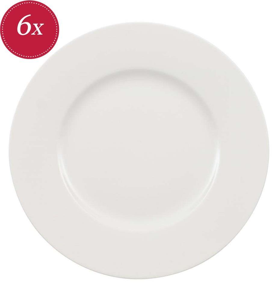 VILLEROY & BOCH - 6er-Set Frühstücksteller Wonderful World White, 21CM